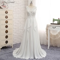 New Romantic Beach Wedding Dresses Sexy Backless Chiffon Cheap Dress For Bride Summer Style vestido longo branco