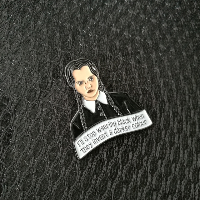 Wednesday Addams Pin Brooches by Keshegans