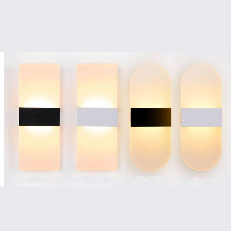 Moderne Led Wandleuchte Acryl Nachttischlampen Wohnzimmer Wandleuchten Foyer Badezimmer Fr DekorationChina