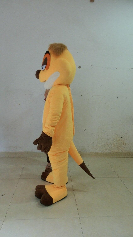 Joli Costume de mascotte de renard jaune avec petit nez noir blanc gros ventre jaune Shorts violet chaussures taille adulte livraison gratuite - 2