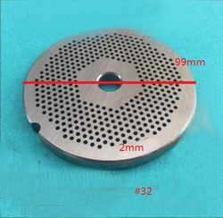 #32 Meat Grinder Parts Stainless Steel hole round plate 99mm 2mm hole size