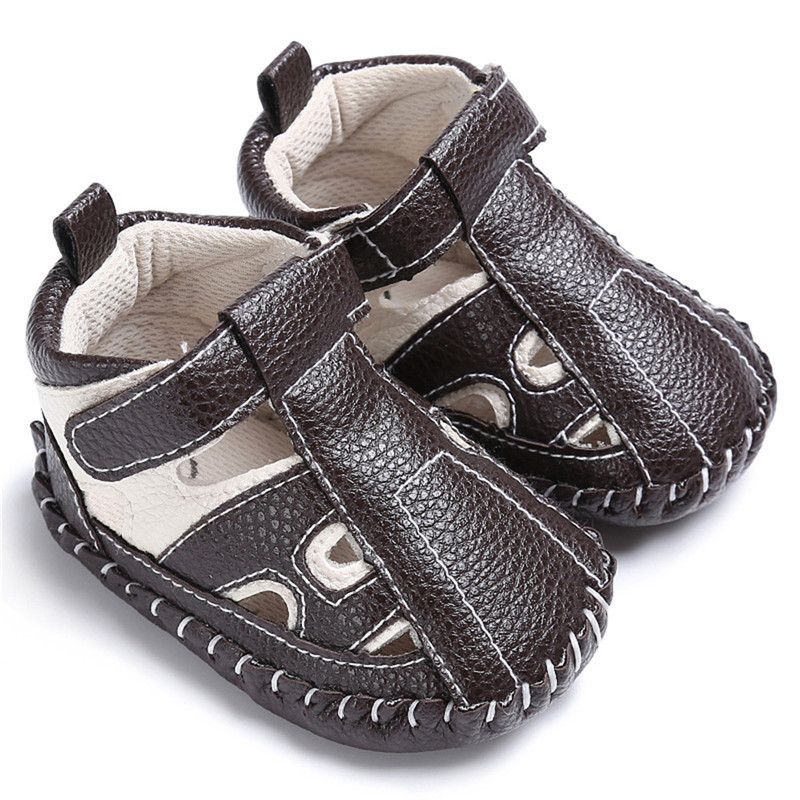 Summer Baby Boy Cartoon Sandals PU Leather Shoes Breathable Toddler Soft Sole Sports Shoes Casual Footwear