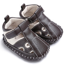 Summer Baby Boy Cartoon Sandals PU Leather Shoes Breathable Toddler Soft Sole Sports Shoes Casual  Footwear  0-18 Months