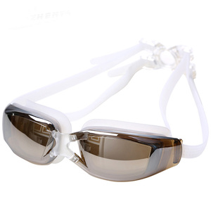 Professional Adult Large frame plating Waterproof Anti-Fog UV Protect Swim Glasses Swimming Goggles Beach Pool(China)