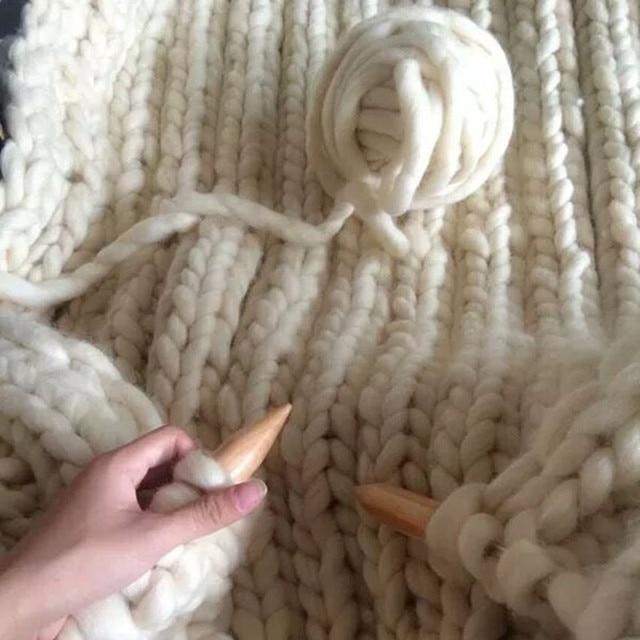 2 stks/500 g/partij + breien naald wol wollen garen Grote Dikke Breien Garen DIY handwerk Wol Garen trui deken hoed sjaal Gehaakte
