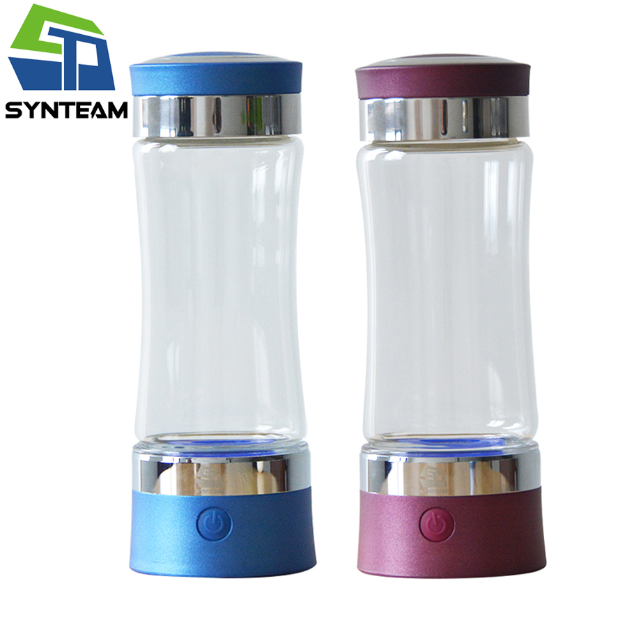 2 pieces/lot Hydrogen Water Bottle Anti Aging Healthy Gift Generator With PEM Technology 1000-1200ppb Ionizer