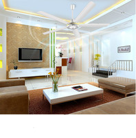 15% 5 Iron 56mm Vane Third Gear Ceiling Air Cooling Fan Living Dining Room Ceiling Fan Large Wind 1.4m