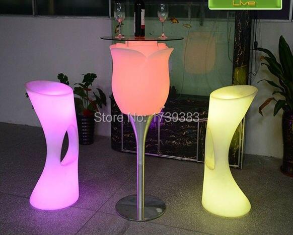 Plastic Led Light Up Flower Floor Lamp Rechargeable