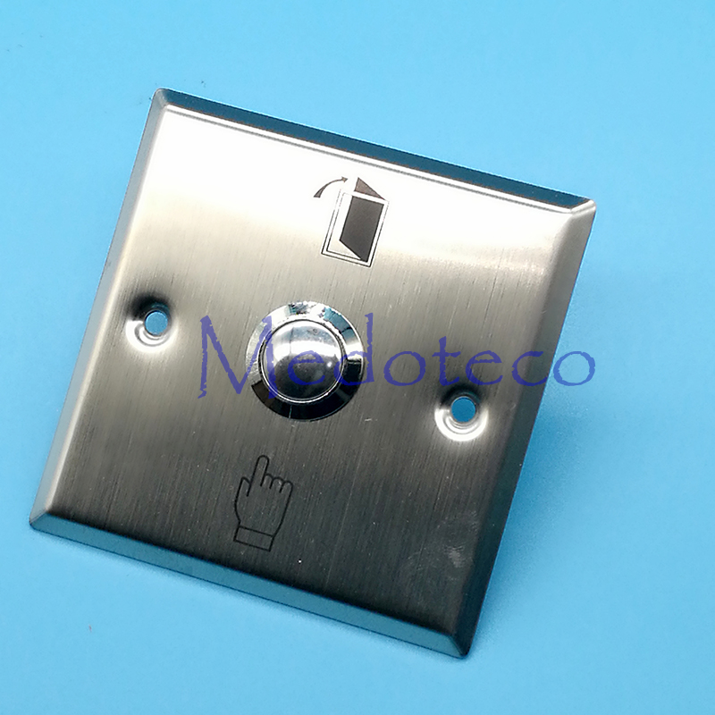 Square stainless steel exit button metal switch for access control system Slim Door Release Button