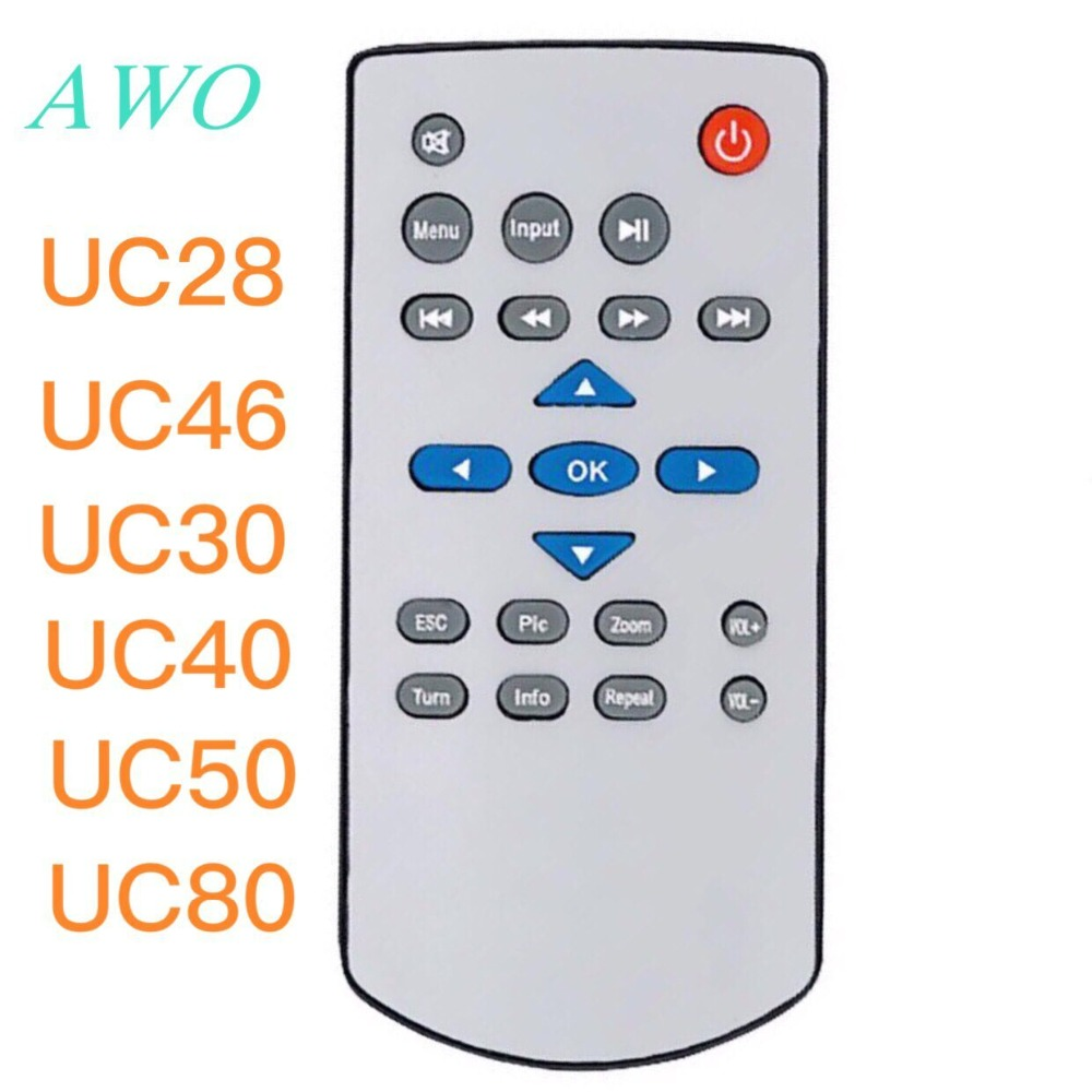 New Original Replacement <font><b>projector</b></font> remote control for <font><b>UNIC</b></font> uc28 <font><b>uc46</b></font> uc80 uc30 uc40 uc50 <font><b>projectors</b></font> image