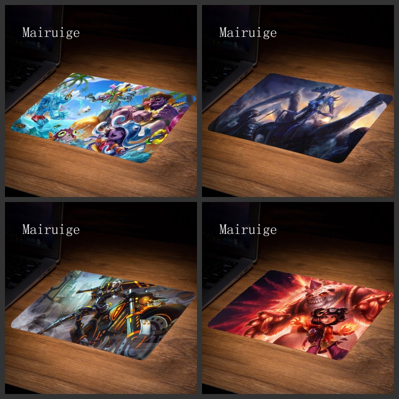 Mairuige League of Legend Mouse Anti-slip Natural Rubber PC Computer Gaming Mousepad Desk Mat Size 22x18/25x20/29x25cm for Cs Go image