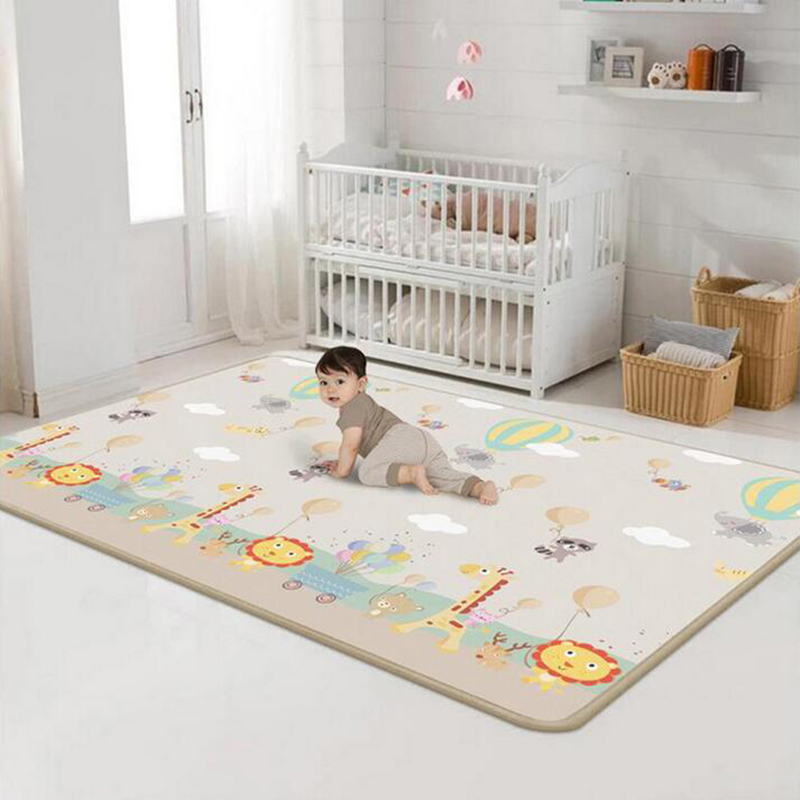 Kids Game Rugs Baby Play Mat Two Sides Pattern Developing Mats Educational Toys Gym For Newborns Crawling Sleeping 180x200x0.5cm
