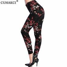 Female Leggings 2016 leggins Spring Autumn Graffiti Flowers Soft Printed Women Mid Waist Slim Sportswear Pant K092