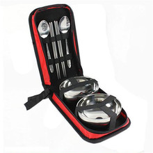 Convenient Lover Travel Tableware Set Lunch Boxs Dinnerware Stainless Steel Bento Box Food Picnic Container For Camping Hiking