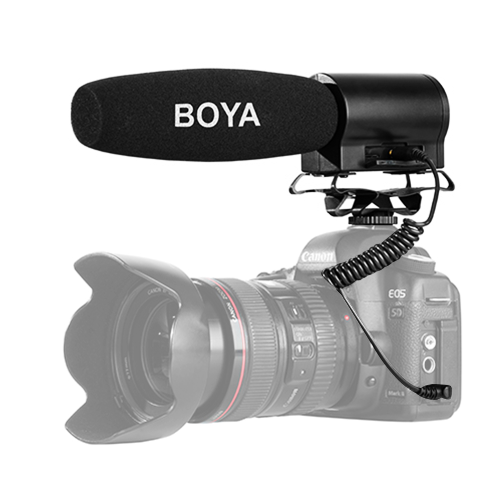 Boya By Dmr7 Broadcast Condenser Microphone With Lcd Display Quality
