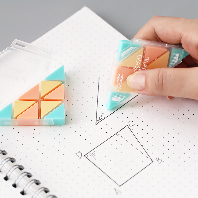LifeMaster Japan Kokuyo Triangle Eraser Creative Small Rubber For Revise Details For Sketch Drawing Super Clean WSG-ERF2