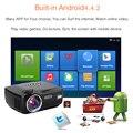 Лучше ПРИВЕЛО Домашний Кинотеатр Android 4.4 Wi-Fi Проектор с 1200 люмен Яркости Смарт Proyector Мультимедийный LCD Видео Игры HDMI D-ТВ