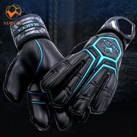 Дешевые ролл палец футбол профессиональные вратарские перчатки ладони мягкий латекс футбол вратарские перчатки с защитой пальцев