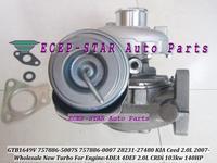 Free Ship GTB1649V 757886 757886-5007S 28231-27480 Turbo Turbocharger For Hyundai Santa Fe Tucson For KIA Sportage D4EA 2.0L