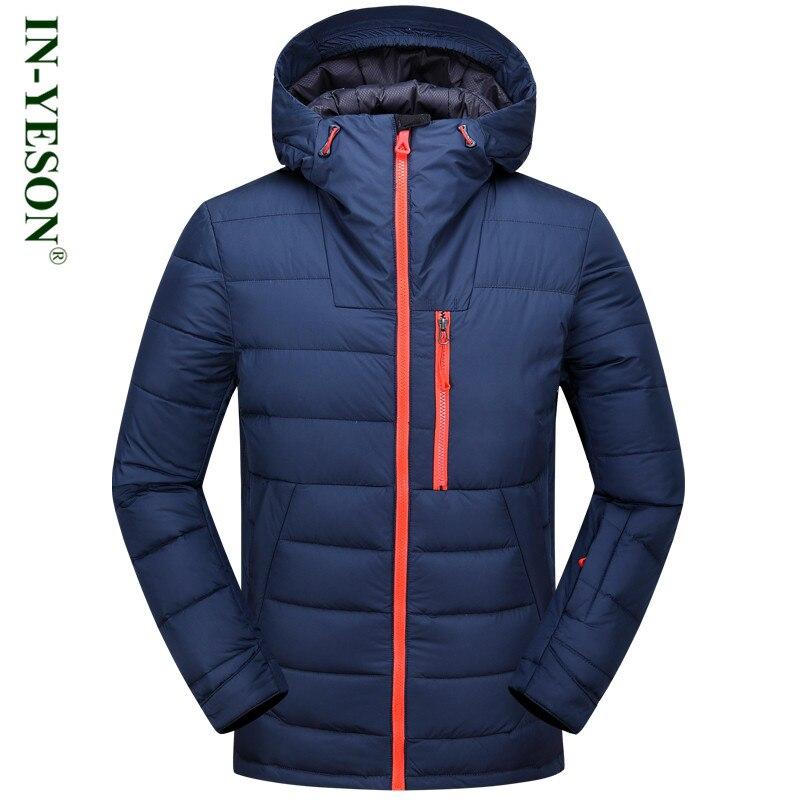 355d4d69847c 2017 New IN-YESON Windproof Men s Down Jacket Zipper Casual Winter Jackets  Mens Overcoat Thicken White Duck Down Coat Brand
