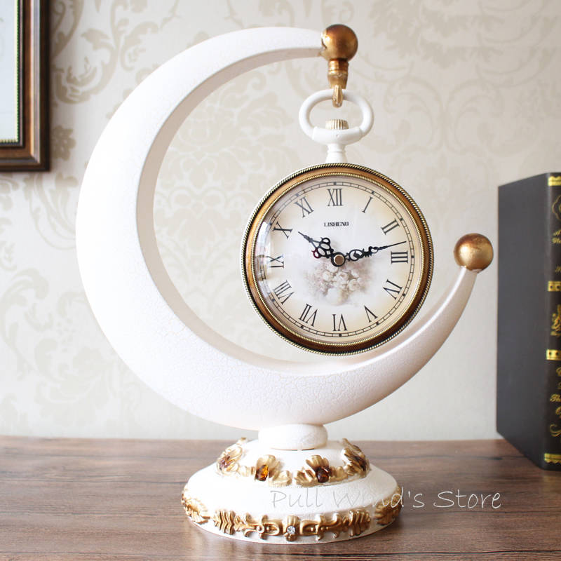 Fine Retro Fashion Home Table Clocks Living Room Decorative Clock(China  (Mainland))