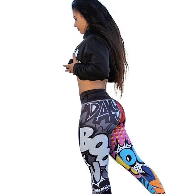 CHRLEISURE Women Digital Printing Leggings Workout Leggings High Waist Push Up Leggins Mujer Fitness Leggings Women'S Pants 2