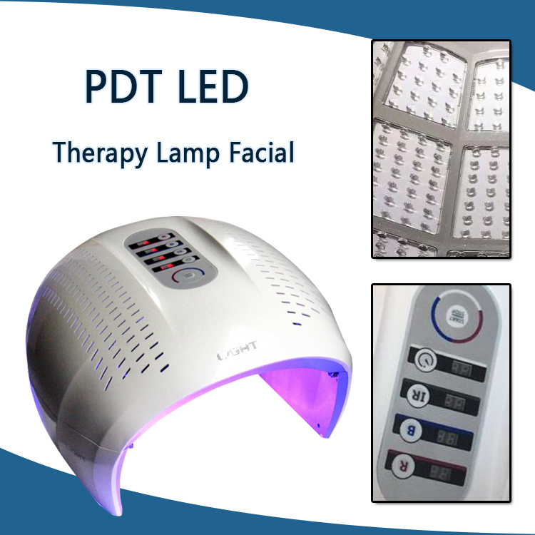 Foldable 4 Color LED Facial Treatment Photon Therapy Mask PDT Skin Rejuvenation Face Beauty Machine LED Light Therapy