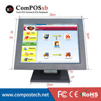 Brand New Touch Screen 15 Inch Windows 7 Cheap All In One Cash Register Machine Point