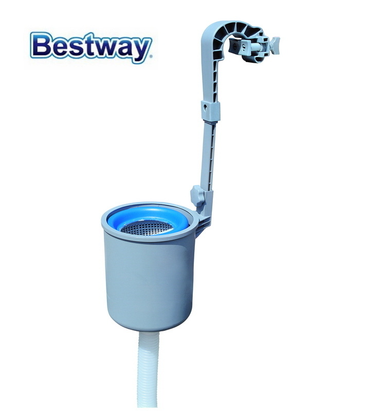 58233 Bestway Durable & Corrosion-proof Pool Surface Skimmer For ABG Pool Used With Filter 800Gal & Above For Automatic Skimming