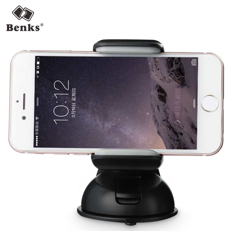 Benks Universal Car Phone Holder 360 Degree Rotation Mount Stand For Iphone 6 6S 7 Samsung 3.5-5.5 Inch Smartphones