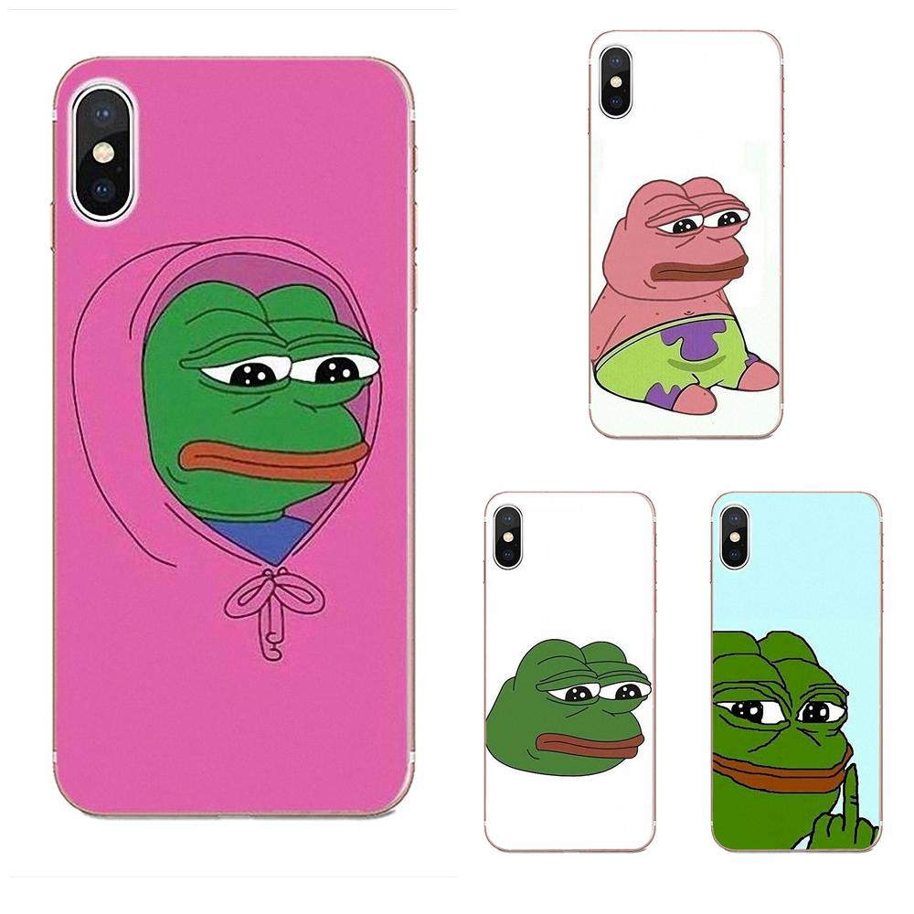 TPU Phone Skin Cute Frog Meme Animal Funny For Galaxy Grand Alpha G850 Core2 Prime S2 I9082 A3 A5 A7 On5 On7 2015 2016 2017 image