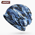 [JAMONT] Camouflage Elastic Hats and Ring Collar Scarf for Women or Men Sport Cycling Hat E3380