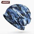 [Jamont] camuflaje sombreros elásticos y el anillo de cuello bufanda para las mujeres o los hombres del deporte ciclismo sombrero e3380
