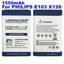 LOSONCOER 1550mAh AB1050GWMT AB1050FWMX For PHILIPS Xenium X125 E255 X128 E103 X126 E106 X116 High Capacity Battery~In Stock(China)