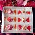 6 шт. Производители пользовательского полосы свадебный candy украшения стекла конфеты модель висит на елку украшения