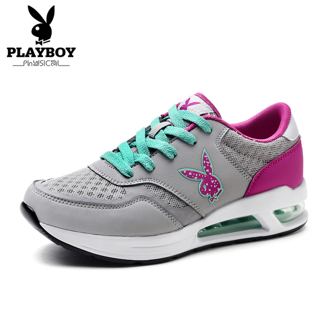 PLAYBOY Mode Maille Casual Chaussures Femme Respirant Formateurs Taille  35-40 Talons Plats Femmes Chaussures 1a8c1845d93
