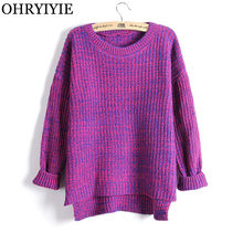 9c33c3da0c OHRYIYIE Autumn Winter Thick Women Sweaters and Pullovers Female Loose Big  Size knitted Sweater Korean Fashion Tops Jumper Femme