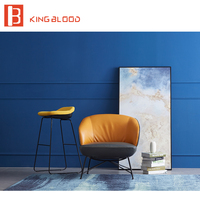 Minimalist Stylish microfiber aritifical Leather designer single armchair Living Room Chairs