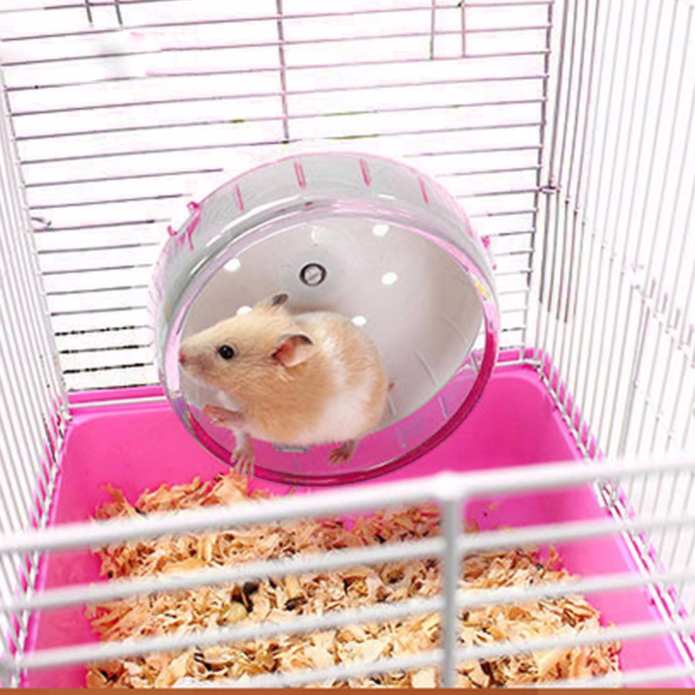 Hamster Toy Mouse Sports Running Wheel For Small Pets Hamster Cage Accessories Animal Gerbil Wheel Practice Jogging Pet Toys