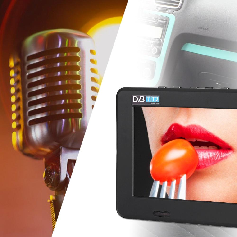 DVB-T-T2 16:9 Portable TFT-LED HD Digital Analog Color TV Television Player UK Plug 7 Inches