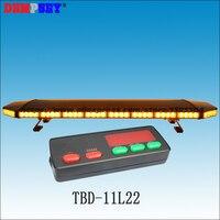 TBD 11L22 High quality Amber LED lightbar,High power LED brightness Car warning lightbar,DC12V/24V light bar,with controller 3K
