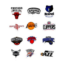 Pvc Stickers 32Pcs/Lot Waterproof NBA Club Logo
