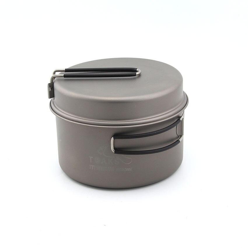 TOAKS CKW-1350 Titanium 1350ml Pot With Pan toaks pot 1350 ultralight titanium 1350ml pot with bail handle outdoor camping tableware