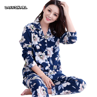 Pure Cotton Two Piece Women S Pajama Sets Night Leisure Long Pants Sleeved Woman Nightgowns Pyjama