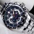 CAINO Homens de Negócios de Moda relógios de Pulso de Quartzo Marca de Luxo Cinta de Aço Cheio Relógios À Prova D' Água Esportes Masculino Relogio masculino