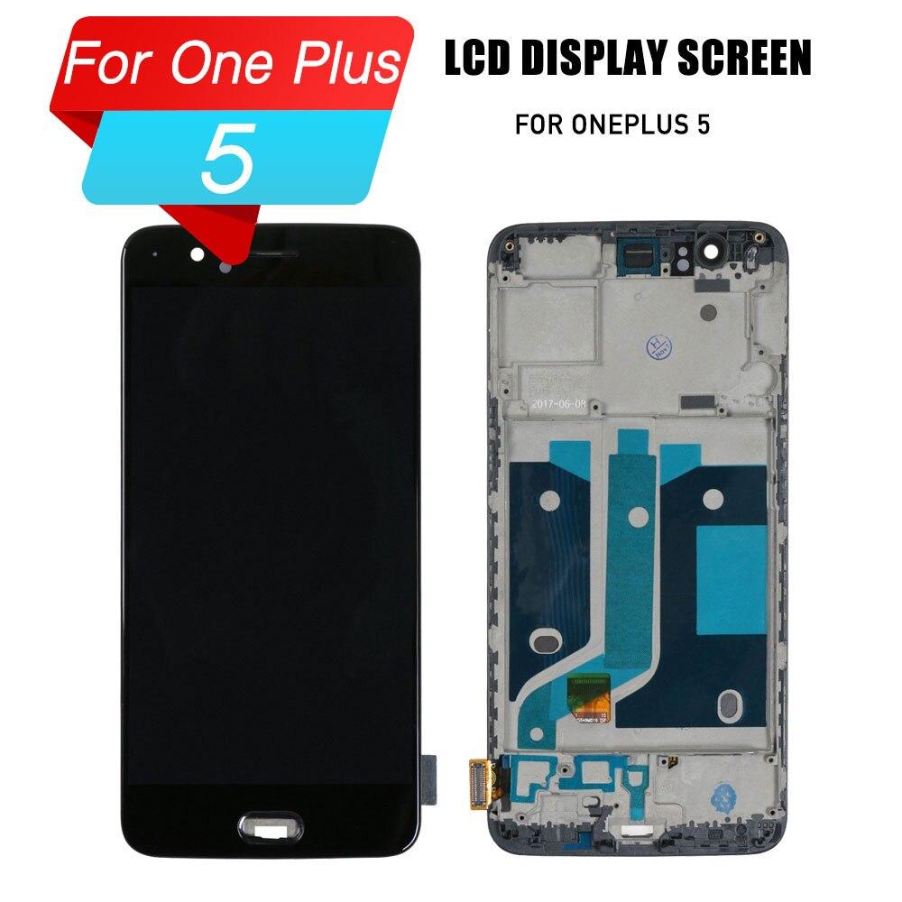 Écran tactile lcd pour écran lcd oneplus 5 avec écran tactile numériseur pour oneplus 5 A5000 1 + 5
