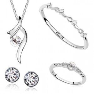 Fashion austrian crystal pendant Necklace/Earring/Bracelet/Ring women 1
