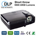 Новый Высокая Яркость 5500 люмен 240 Вт Osram лампы HDMI DLP Данные показывают, 3D Short throw Проектор projetor для школы классы