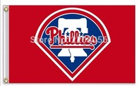 Philadelphia Phillies MLB Flag Hot Sell Goods Sport Outdoor Banners Custom Flag Free Shippingtwo Sizes Can