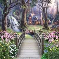 Beibehang Custom 3d Wallpaper The Most Beautiful Fairyland Oil Painting Three Dimensional Mural Backdrop Decoration